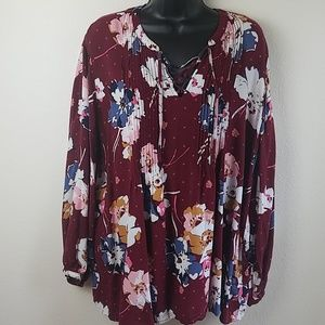 Old Navy Floral Print Top XL